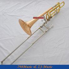 Профессиональный 2 ротора Роза латунь Бас тромбон с cupronicel тюнинга силда рога