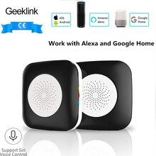 Geeklink Smart Home Mini Host Remote Control WiFi+IR+RF APP Siri Voice Controller Work for Alexa Google Home Automation Modules geeklink extension intelligent controller smart home automation wireless switch wifi rf ir remote control via ios android