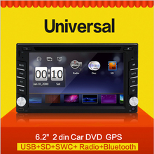 6.2 inch Car Radio GPS Navigation Double 2 Din Bluetooth Car DVD Player Car in dash Stereo video with Free Camera Free Map