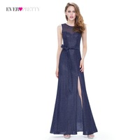 Clearance Style Ever Pretty Brand Long Evening Dress 2018 Navy Blue Open Back Formal Elegant