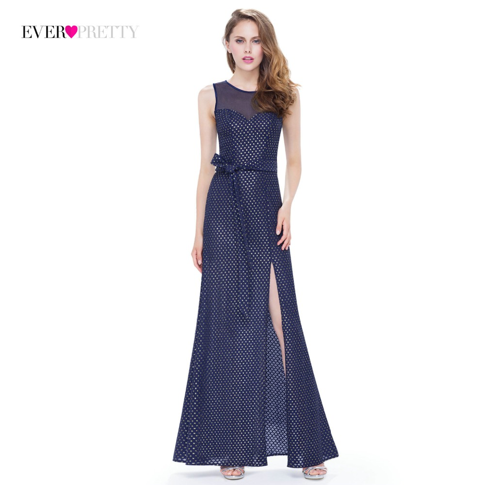 Clearance Style] Ever Pretty Brand Long Evening Dress 2018 Navy Blue ...