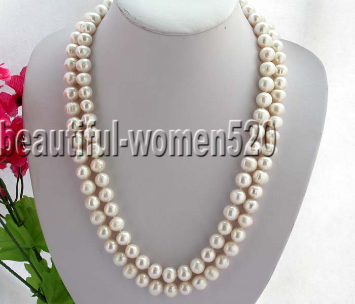 Z5733 beautiful 50 12mm nature white freshwater necklaceZ5733 beautiful 50 12mm nature white freshwater necklace