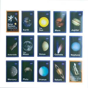 Image 5 - Детская Вселенная игра DDWE на солнечной батарее, обучающая английская флеш карта Марса/ртути, обучающая карта Монтессори для детского сада