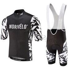 цена на Morvelo New 2019 pro team Cycling jerseys Bike bib Shorts Set Quick Dry Bicycle Jersey Mens Summer Breathable Maillot Ciclismo