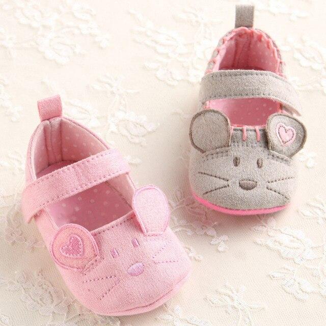 Suave animal impresiones princesa Zapatos de bebé para Niñas Niños ...