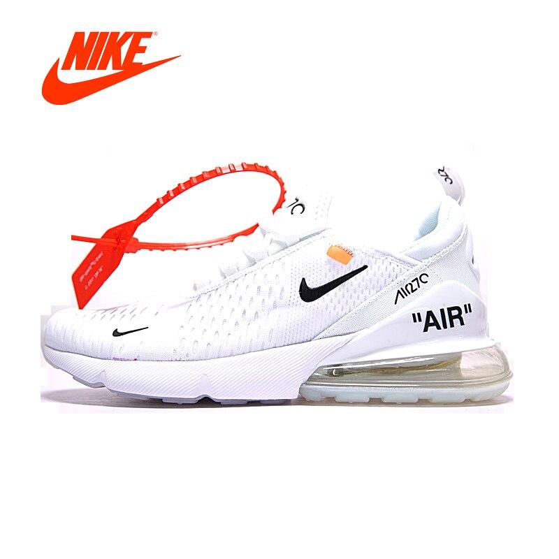 Novedad Original oficial Nike Air Max transpirable cojín zapatos deportivos blanco negro hombres zapatillas de correr AH8050-100