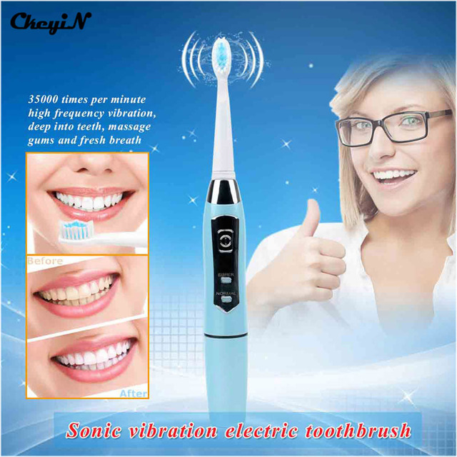CkeyiN Battery Operated Toothbrush Electric Toothbrush For Adult Travel Portable Tooth Brushes Oral Care Sonic Electronic Tooth
