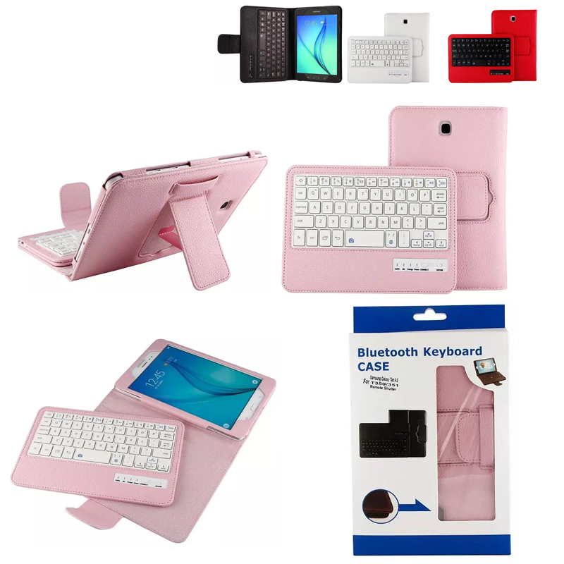 For Samsung GALAXY Tab A 8.0 T350 T351 T355 P350 P355 Removable Bluetooth Keyboard Portfolio Folio PU Leather Case Cover