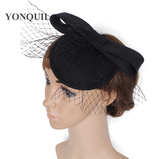 13a1c0f8cd1ea women Headband delicate Wedding Fascinator birdcage Veil Hats Women wedding  decorative millinery Brides Hair Accessories SYF27