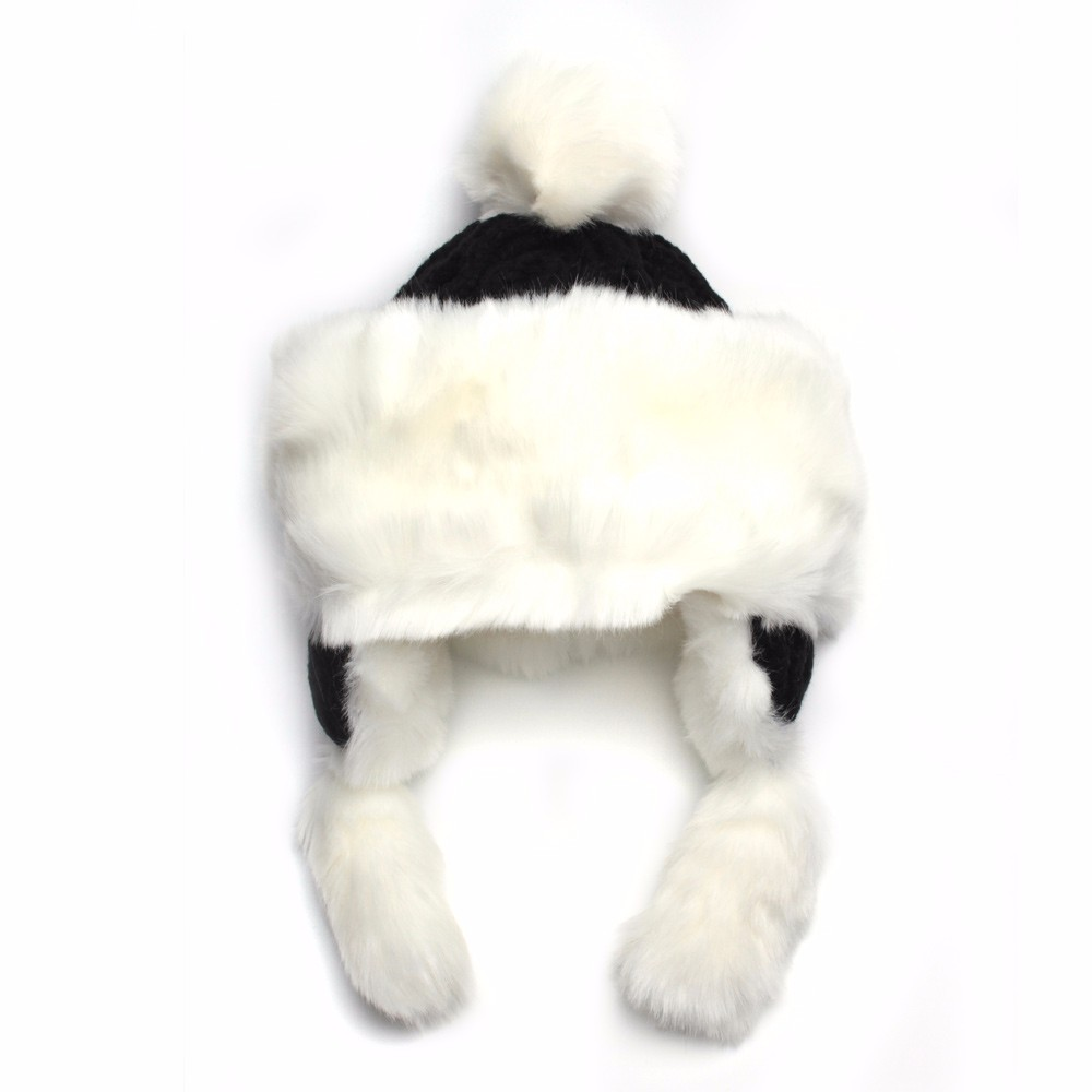 2016 Christmas Hats For Adults Women Winter Twisted Knit Beanies With Pompom Imitation Rabbit Hair Thick Warm Snow Earflap Cap  (6)