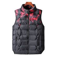 218 new autumn and winter arrival Fashion male down cotton vest mens color block obese plus size 2XL-8XL Mens Vest