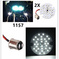 Harley Touring Motorcycle1 conjunto Lâmpada Branca 1157 LED Painel Turn Signal Daytime DRL Luz BAY15d