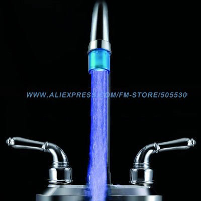 Basin Faucets Tiny LED RGB Faucet Flashing Light Waterflow