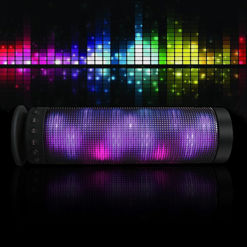 Teal LED lights Bluetooth Speaker Portable Power Recharged 360 Degree Surround Stereo Wireless Speaker Christmas Gift tronsmart element t6 mini bluetooth speaker portable wireless speaker with 360 degree stereo sound for ios android xiaomi player