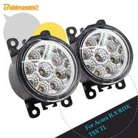 Buildreamen2 For Acura ILX RDX TSX TL 1 Pair Car LED Light Lamp Front Fog Light