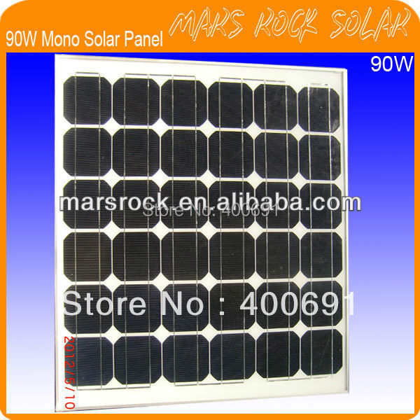 90W 18V Monocrystalline Solar Panel Module with 36pcs Cells,Nice Appearance,Good Waterproof,Excellent Perfomance,Long lifecycle 35w 18v polycrystalline solar panel module with special technology high efficiency long lifecycle fend against snowstorm