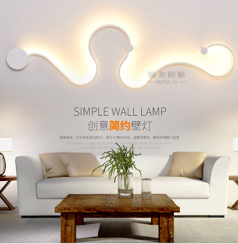 Zy Led Interior Personality Art Wall Lamp Post Modern