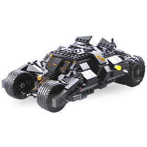 Image 2 - 325 Uds. Superhéroe Batman coche de carreras coche bloques de construcción clásicos compatibles con Lepining juego de bricolaje Batman con 2 figuras