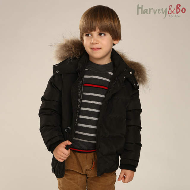 4906b5f18526 Online Shop Boys winter thick down jackets Harvey Bo new style kids ...