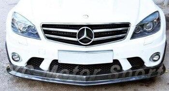 Car Accessories Carbon Fiber L2 Style Front Lip Fit For 2008-2010 MB W204 C63 AMG Sedan Front Lip Splitter