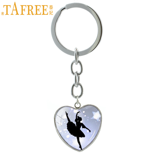 Ballet Dancing keychain vintage Irish Dance Gymnastics Dancer Ballerina key chain ring