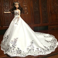 NK One Pcs Handmade Princess Luxury Wedding Dress Noble Party Gown For Barbie Doll Limited Collection Elegant Dress Best Gift