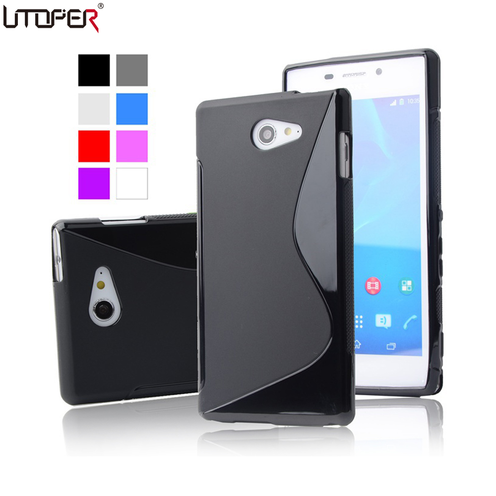 S LINE Anti Skidding Slim Soft Gel TPU Case for Sony XPERIA M2 S50h & M2 Aqua Mobile Phone Rubber silicone Back Cover
