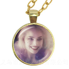 Riverdale Pendant Necklace 25mm Glass Cabochon Goden/Silver Planted Sweater Chain For Women Men Kids Jewelry Gift(China)