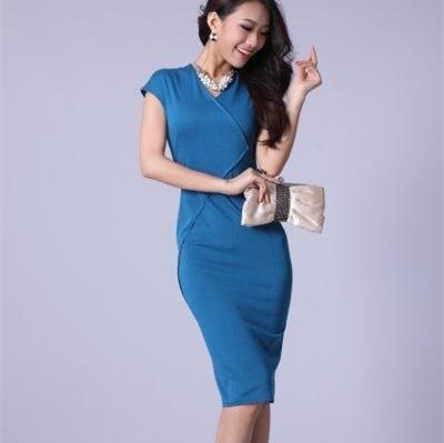 бесплатная доставка, h5483 виктория дизайн мода с V-бюстгальтер изделия с рукавом Rico cork длинные платья женщин