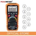 Официальный PEAKMETER PM8236 авто ручной Диапазон Цифровой мультиметр с TRMS 1000V Температура Емкость Частота тест