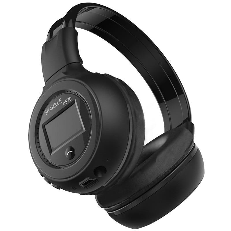 Orignal ZEALOT B570 LCD Screen Wireless Stereo Bluetooth Headphone Handsfree Headset With Microphone, FM Radio, TF Card Slot
