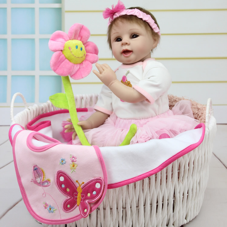 2015 new hot sale lifelike reborn baby doll wholesale baby dolls Christmas gift for girl baby short curl hair lifelike reborn toddler dolls with 20inch baby doll clothes hot welcome lifelike baby dolls for children as gift