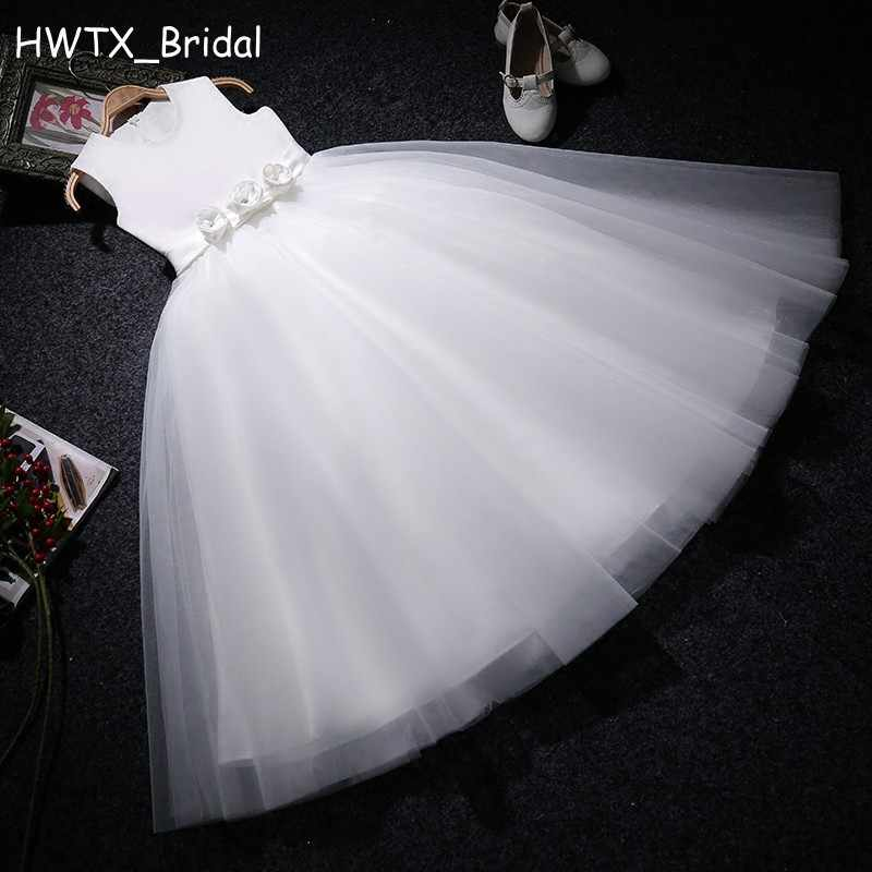 6443b3a6f48 Detail Feedback Questions about Elegant White Flower Girl Dresses Cute  Little Floral Tulle A Line First Communion Dresses For Girls Cheap Kids  Vestidos ...