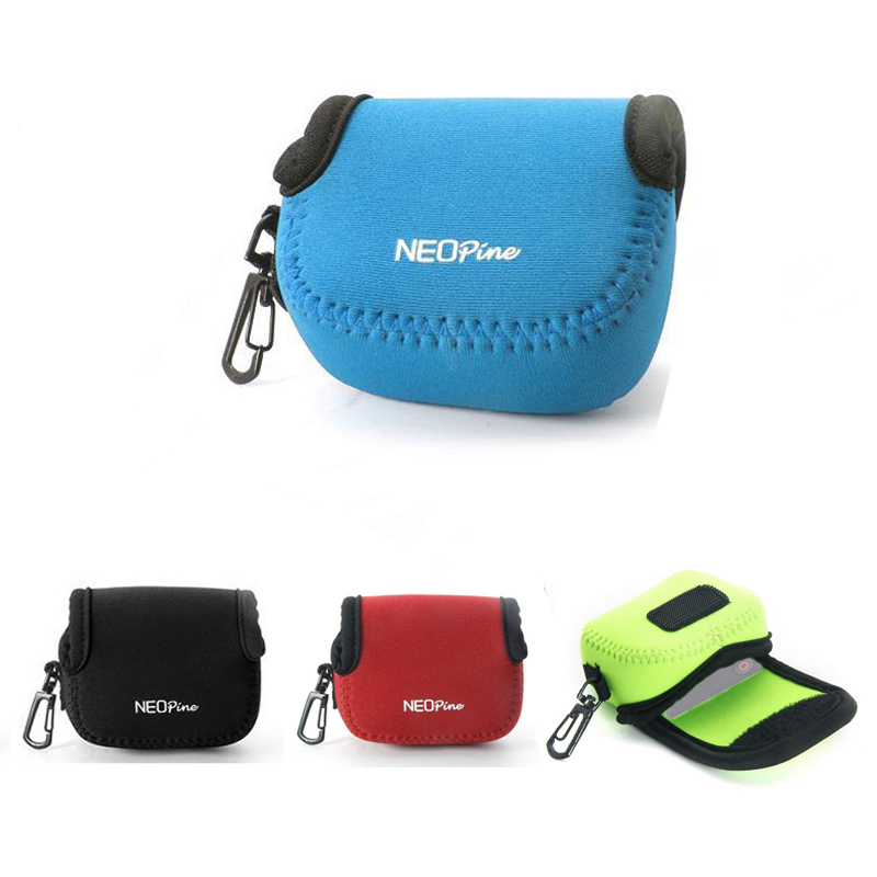 Ultra Light Neoprene Camera Case Bag with Carabiner for Sony Cyber-shot RX0 DSC-RX0 Sport Action Camera pouch portable