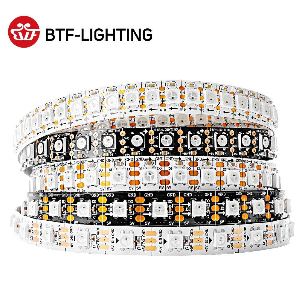 Wholesale WS2812B RGB Led Pixel Strip Light 1m/4m/5m 30/60/74/96/144 Pixels/leds/m Individually Addressable IP30/65/67 DC5V