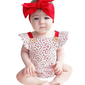 2018 Summer New 2Pcs Baby Girls Infant Lace Toddler Jumpsuit Romper+Headband Set Clothes Children clothes Dropshipping  P5