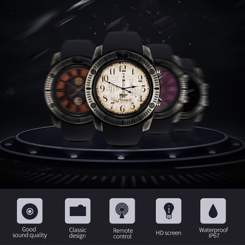 Bluetooth Smart Watch Retro With Touch Screen Big Battery Support SIM SD Card Remote photography For IOS iPhone Android Phone