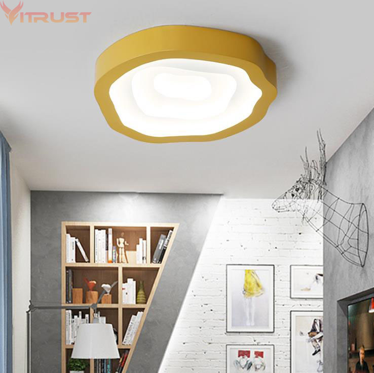 Nordic Ceiling Lamps LED Modern Lighting Fixture Colorful Lampara techo Avize Iron Living room Bedroom Kids Child Remote Control