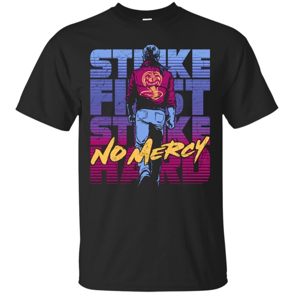 Cobra Kai Men'S T-Shirt No Mercy The Karate Kid Movie 80S 2019 Summer New Men Funny Casual Brand Shirts Top Homme Suit