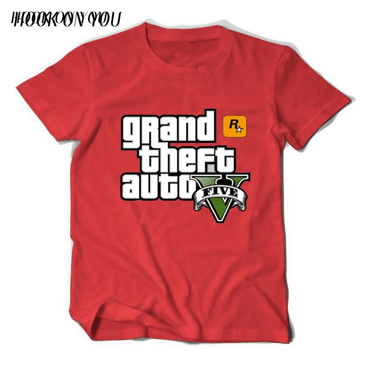 Grand Theft Auto GTA T Shirt Men Street Long with GTA 5 T-shirt Men Famous Brand TShirts in Cotton Tees for Couples GTA5