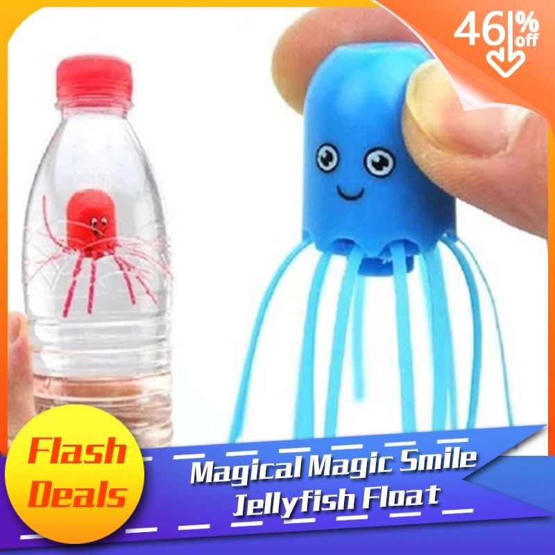 Hot New Cute Funny Toy Magical Magic Smile Jellyfish Float Science Toy Gift For Children Kids Randomly