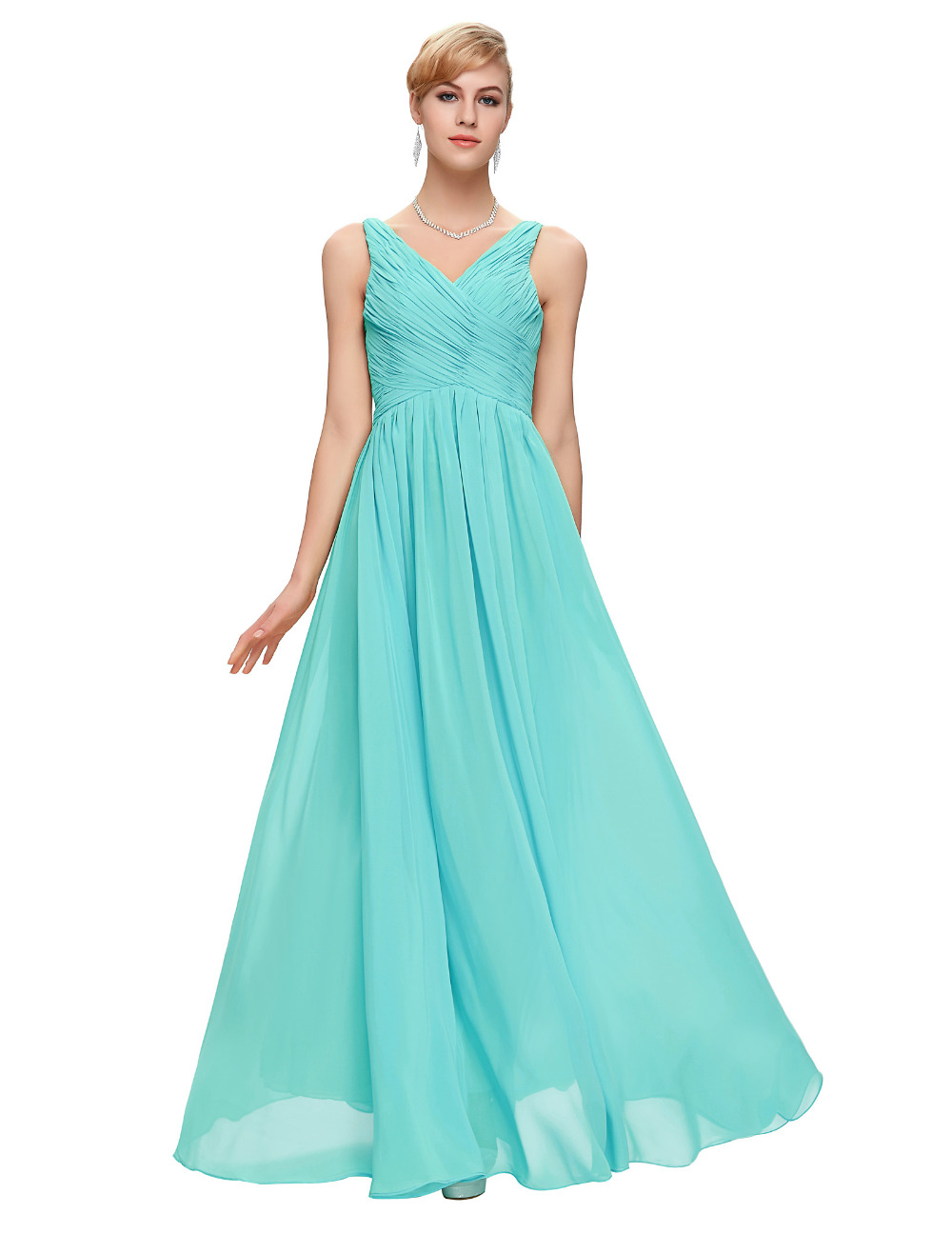 Elegant Pink Evening Dress Prom Dresses 2017 Coral Purple Green Blue ...