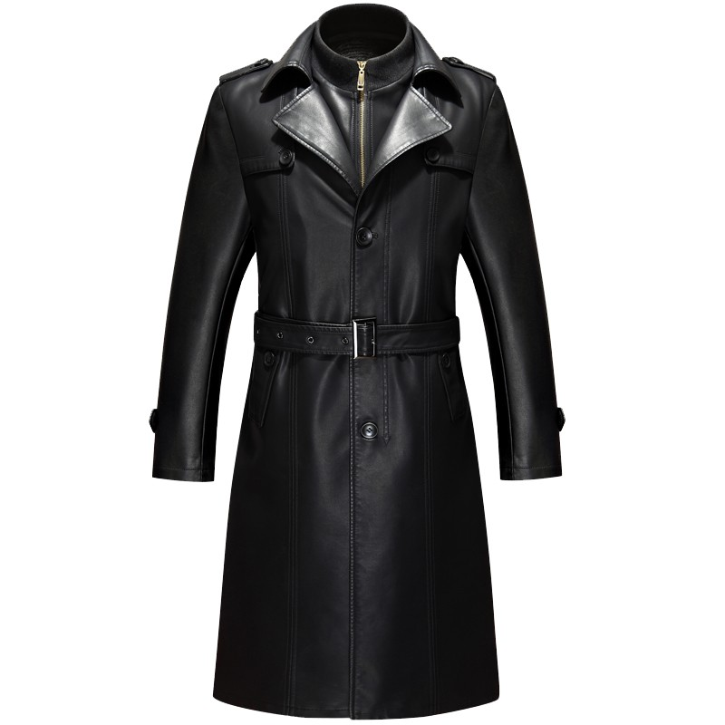 Leather Trench Coat Men Promotion-Shop for Promotional Leather ...