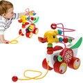 Утенок Прицеп Игрушки Детские Деревянные Игрушки Развивающие Игрушки для Детей 9 Месяцев до 3 Лет Утенок Прицеп Круглый Подарки