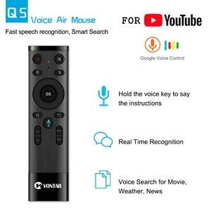 Image 2 - Télécommande vocale VONTAR Air souris 2.4GHz télécommande sans fil avec Microphone gyroscopique pour Android TV Box T9 X96 mini
