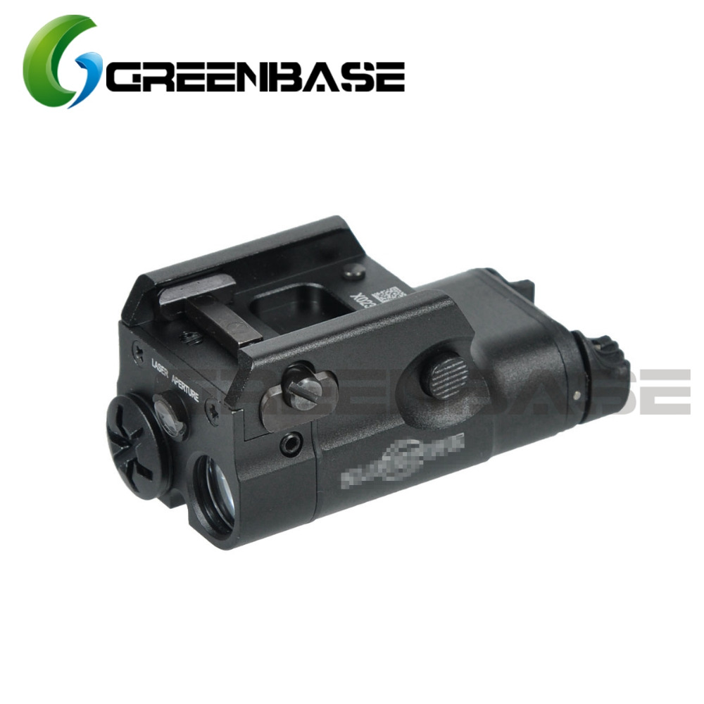 Greenbase XC2 Ultra Compact Pistol Light Red Dot Laser Flashlight LED MINI White Light 200 Lumens Hunting Airsoft image