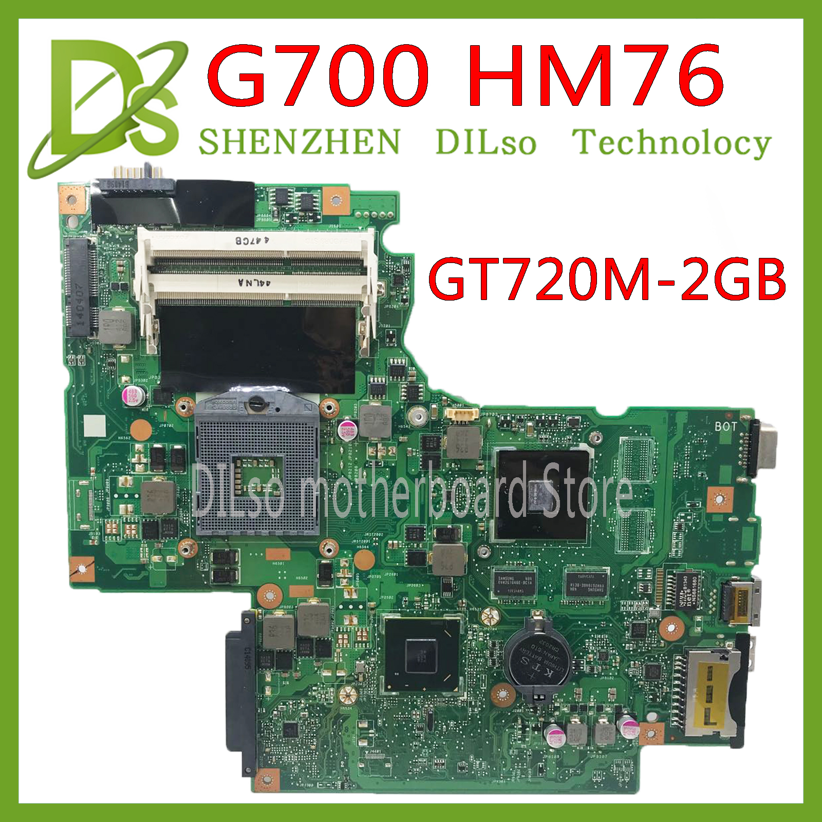 KEFU G700 For Lenovo G700 Laptop Motherboard BAMBI Mainboard With Gt720 GPU HM76 11SN0B5M11 11S90003042 Original Mainboard