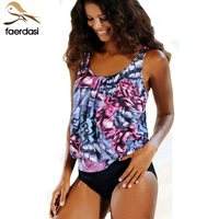Plus Size Swimsuits Womens Bikini Cute Tankini Bandeau Bikini Set High Waist Swimwear Women Swimsuit Female