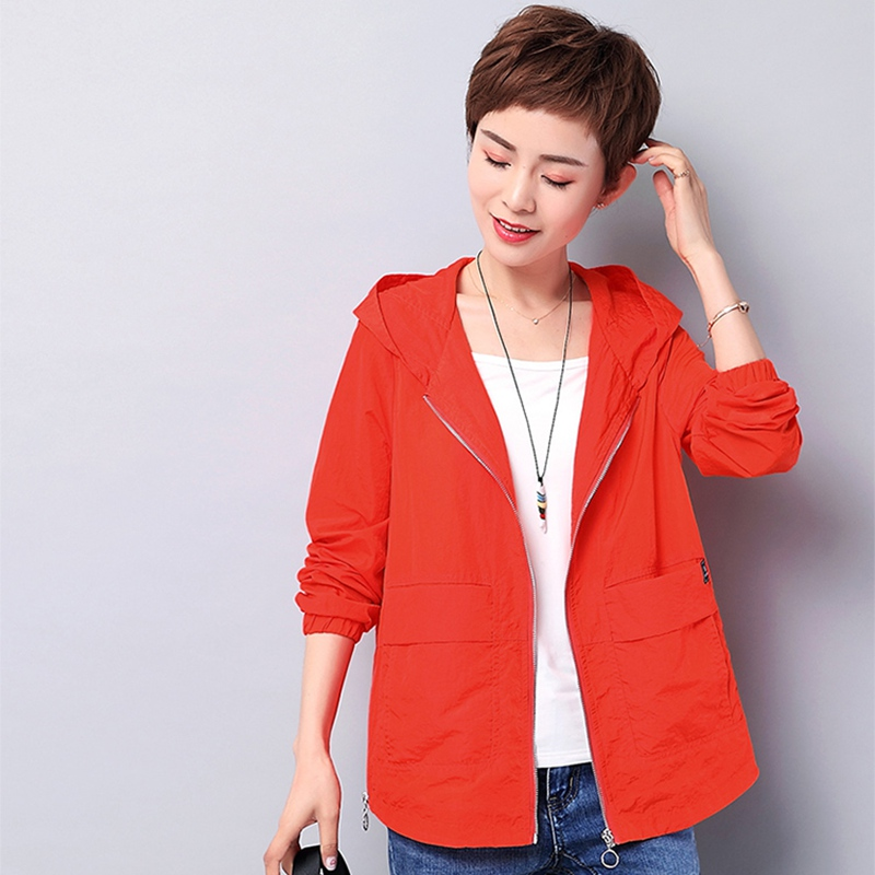 Summer jacket women women clothes 2019 uv protection hooded plus size breathable wicking Sun protection jacket coat womens tops in Jackets from Women 39 s Clothing