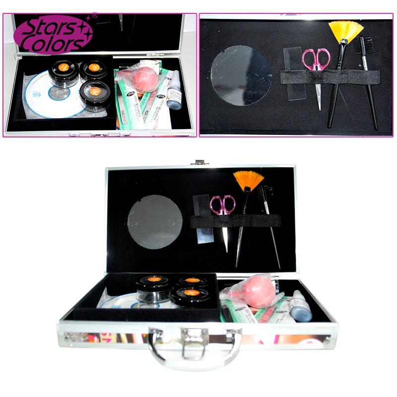 Ciglia colorate Case Set Kit ciglia Strumenti di Bellezza Delle Donne scatole con ciglia strumentiCiglia colorate Case Set Kit ciglia Strumenti di Bellezza Delle Donne scatole con ciglia strumenti